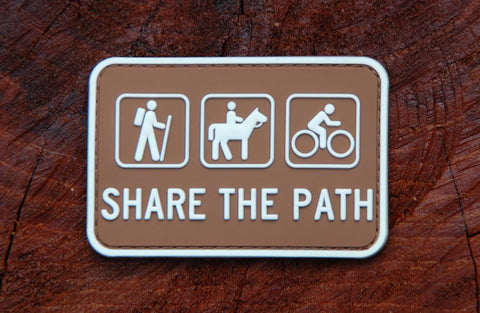 SHARE THE PATH CAMPGROUND SIGN 3D PVC MORALE PATCH - Tactical Outfitters