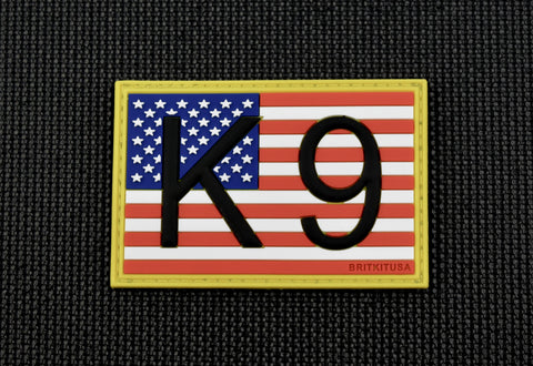 K9 US FLAG 3D PVC MORALE PATCH - Tactical Outfitters