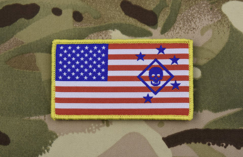 MARINE RAIDER REGIMENT US FLAG WOVEN MORALE PATCH - Tactical Outfitters
