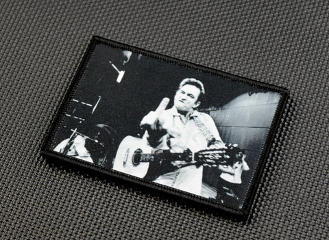 Johnny Cash Finger Morale Patch - Tactical Outfitters