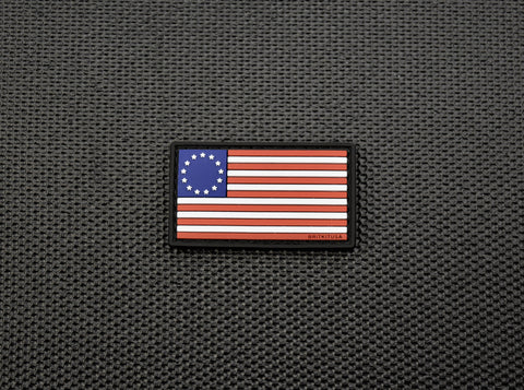 MINI BETSY ROSS FLAG 3D PVC MORALE PATCH - Tactical Outfitters