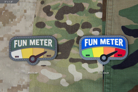 FUN METER PVC MORALE PATCH - Tactical Outfitters