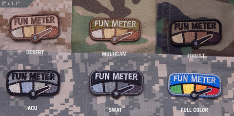 FUN METER MORALE PATCH - Tactical Outfitters