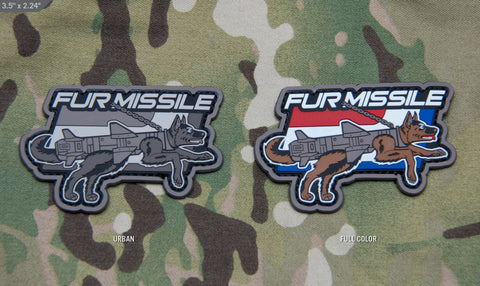 FUR MISSILE PVC MORALE PATCH - Tactical Outfitters