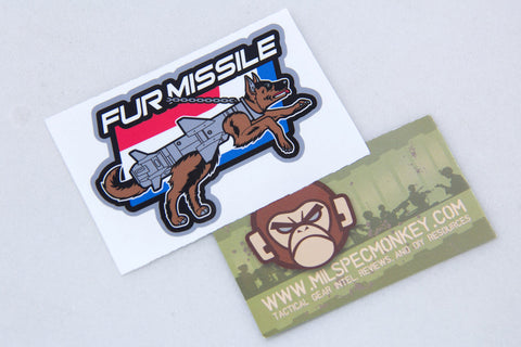 FUR MISSILE STICKER - Tactical Outfitters