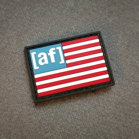 American AF - Mini PVC American Flag Patch - Tactical Outfitters