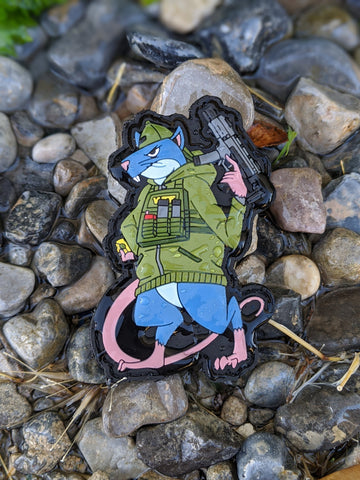 Hood Rat Series - Fink - Limited Edition PVC Morale Patch - Tactical Outfitters