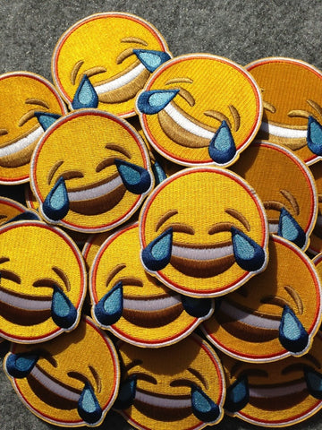 Laughing To Tears Emoji Morale Patch - Tactical Outfitters