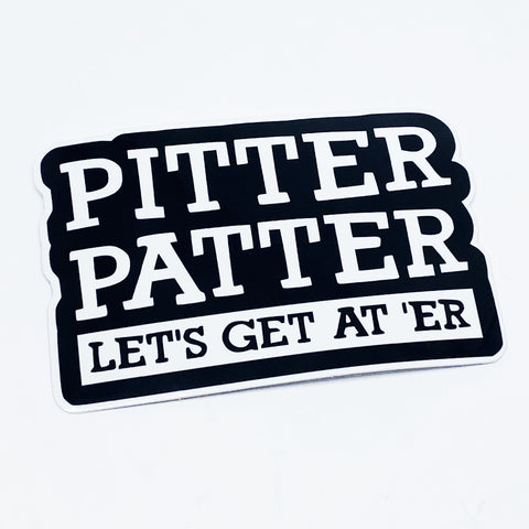 Pitter Patter Sticker - Tactical Outfitters
