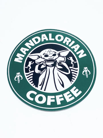 Mandalorian Coffee Sticker - Tactical Outfitters