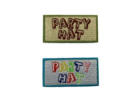 Party Hat 1x2 Morale Patch - Tactical Outfitters