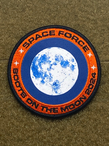 Space Force Moon Mission 2024 Uniform Morale Patch - Tactical Outfitters