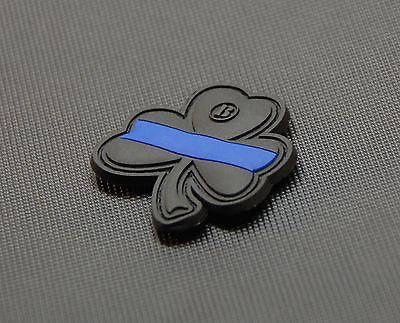THIN BLUE LINE CLOVER PVC MORALE PATCH - Tactical Outfitters