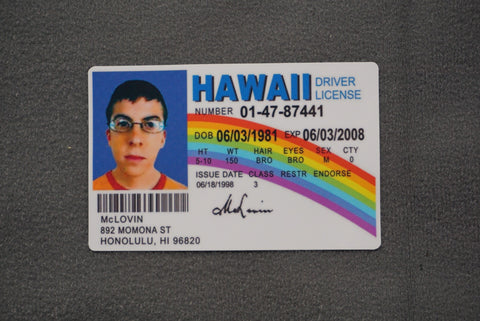 MCLOVIN ID STICKER - Tactical Outfitters