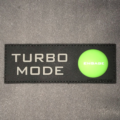 Adrift Venture Turbo Mode PVC Morale Patch - Tactical Outfitters