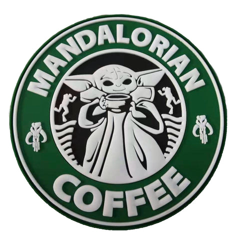 Mandalorian Coffee PVC Morale Patch - Tactical Outfitters