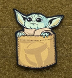 Pocket Baby Yoda Morale Patch - Tactical Outfitters