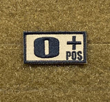 Tactical Outfitters Blood Type Morale Patches - Tactical Outfitters