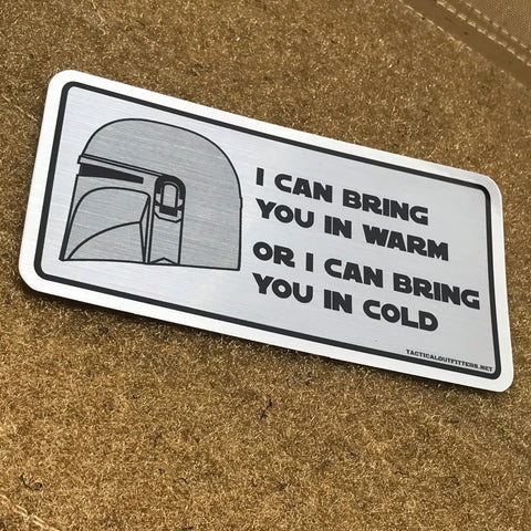Warm Or Cold Brushed Aluminum Sticker - Tactical Outfitters