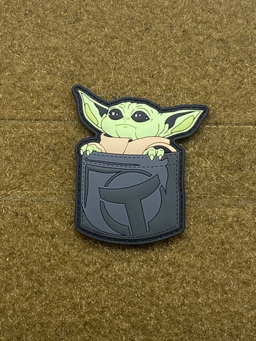 Pocket Baby Yoda PVC Morale Patch - Tactical Outfitters