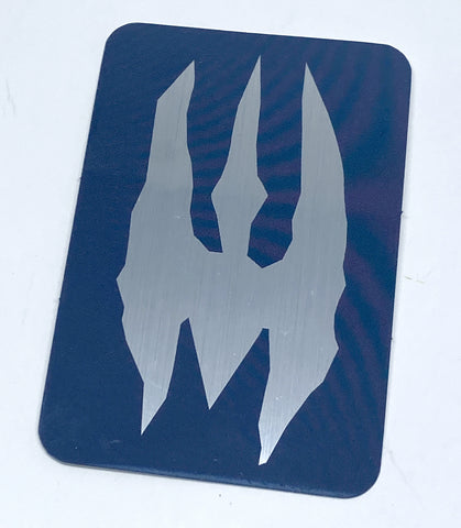 Death Watch - Mandalorian Brushed Aluminum Sticker - Tactical Outfitters