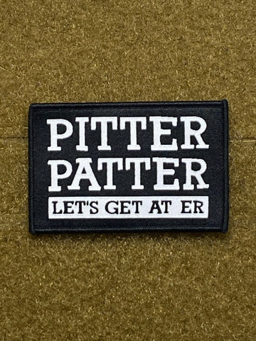Pitter Patter Woven Morale Patch