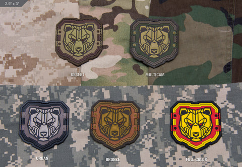 Industrial Bear PVC Morale Patch - Tactical Outfitters