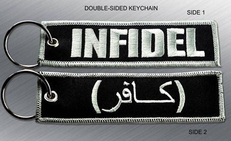 INFIDEL EMBROIDERED KEYCHAIN TAG - Tactical Outfitters