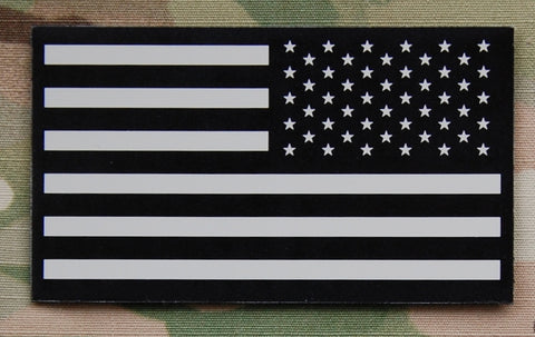 US Flag Reverse Tan & Black Infrared Flag Patch - Tactical Outfitters
