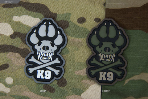 K9 PVC MORALE PATCH - Tactical Outfitters