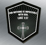 LUKE 1:37 PVC MORALE PATCH - Tactical Outfitters