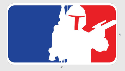 Major League Mando Sticker