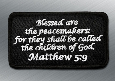 MATTHEW 5:9 MORALE PATCH - Tactical Outfitters