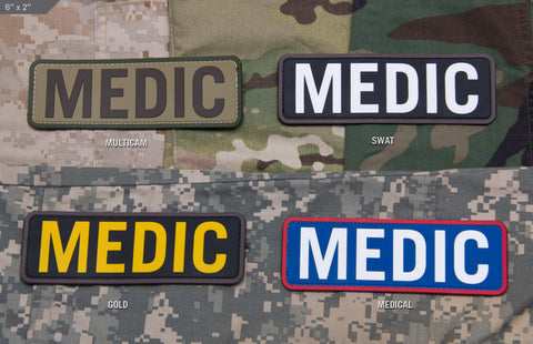 Medic 6x2 PVC Patch - Tactical Outfitters