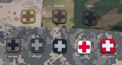 "MEDIC SQUARE 1"" PVC PATCH - Tactical Outfitters"