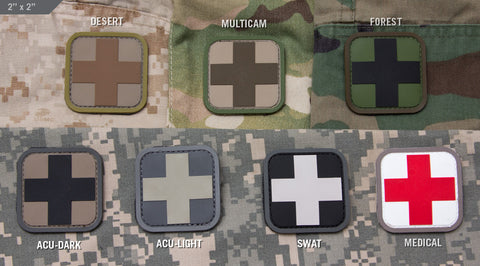"MEDIC SQUARE 2"" PVC PATCH - Tactical Outfitters"