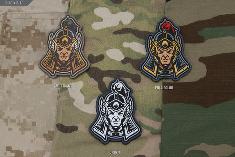 MING DYNASTY WARRIOR HEAD PVC MORALE PATCH - Tactical Outfitters
