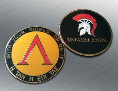 MOLON LABE CHALLENGE COIN - Tactical Outfitters