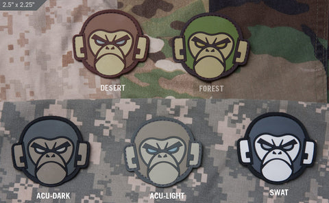 Monkey Head PVC Morale Patch - Tactical Outfitters