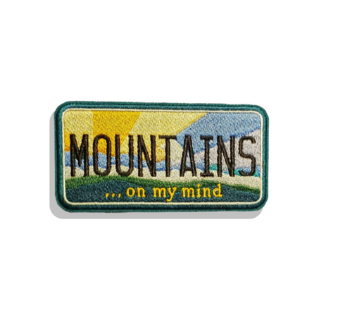 Mountains On My Mind License Plate Morale Patch - Tactical Outfitters