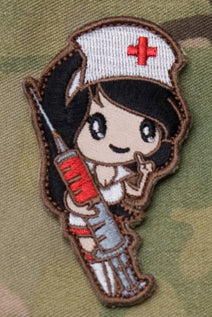 Nurse Girl Morale Patch - Tactical Outfitters