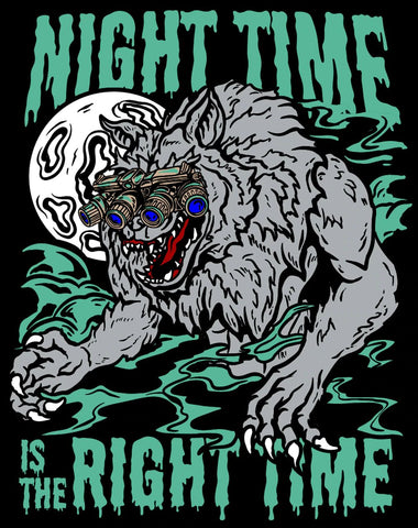 Night Time Is The Right Time Sticker - Tactical Outfitters