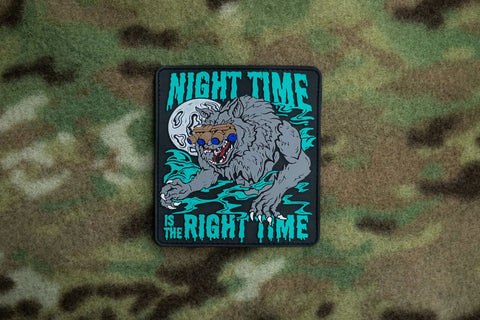 Night Time Is The Right Time Morale Patch - Tactical Outfitters