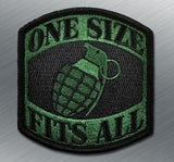 ONE SIZE FITS ALL GRENADE MORALE PATCH - Tactical Outfitters