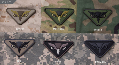 Owl Head PVC Morale Patch - Tactical Outfitters