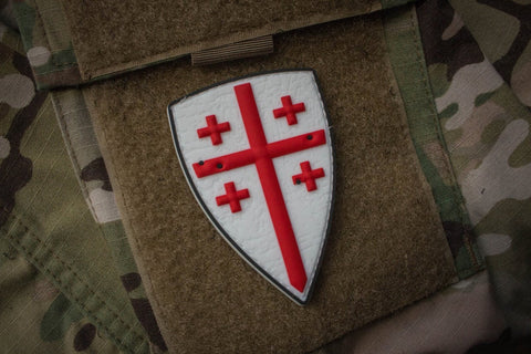 Crusader Shield PVC Morale Patch - Tactical Outfitters