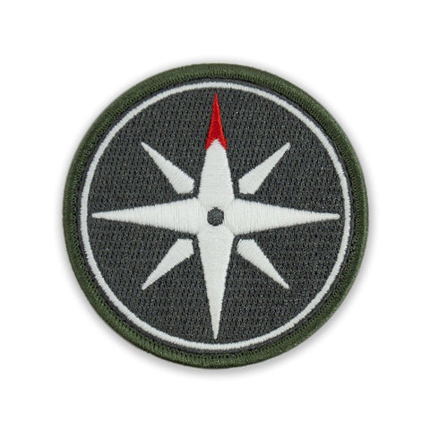 PDW Compass Rose GID Morale Patch - Tactical Outfitters