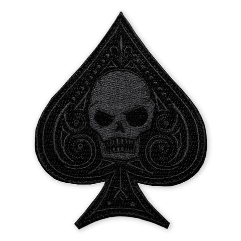 PDW Ace Memento Mori Black Out Morale Patch - Tactical Outfitters