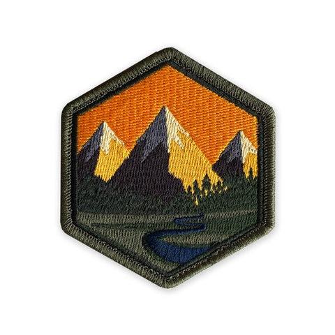 PDW Mountain Life Sunset Morale Patch - Tactical Outfitters