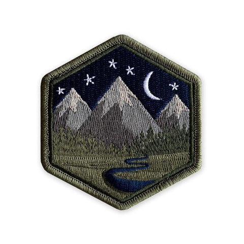 PDW Mountain Life Night Sky Morale Patch